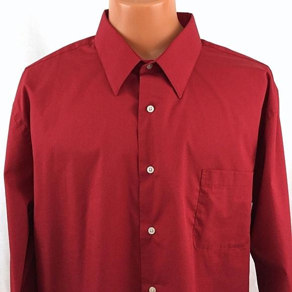 9b96247e6fc Croft   Barrow Classic Fit Dress Shirt XXL Red
